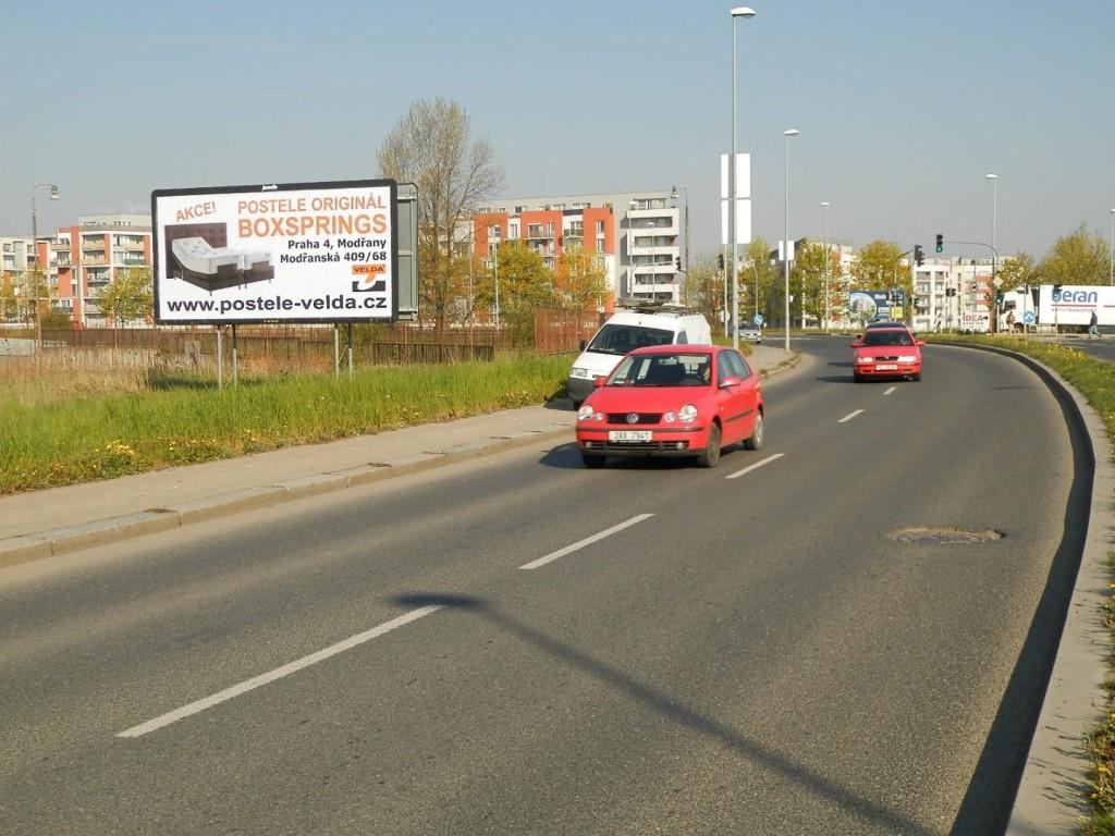 Reklamní poutač Postele Velda - originální boxsprings, Praha 4 Modřany