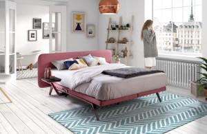 postel finesse červená